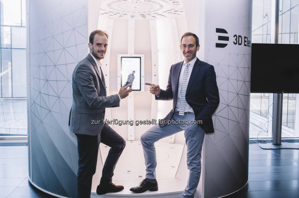 Florian Tursky (CEO), Georg Hofherr (Gründer) : 3D Elements präsentiert innovatives 3D Fotostudio in Wien : Fotocredit: Mountainmaster, © Aussender (20.06.2016)