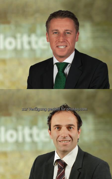 Herbert Urbicher (Audit Senior Manager), Christian Buchsteiner (Senior Manager) : Deloitte Styria verstärkt Team : Neuzugänge in den Bereichen Financial Advisory und Audit : Fotocredit: Deloitte