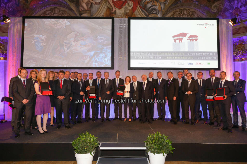 Die Preisträger des Wiener Börse Preises 2016 (Bild: Wiener Börse, Richard Tanzer) (21.06.2016)