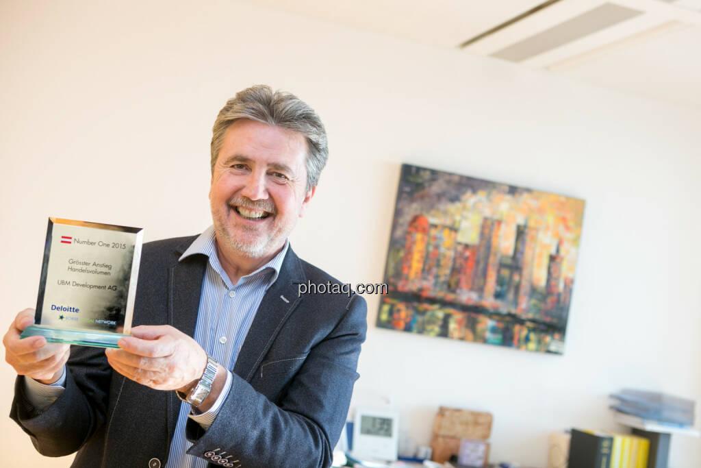 UBM-CEO Karl Bier - Grösster Anstieg Handelsvolumen UBM Development AG, © photaq/Martina Draper (22.06.2016)