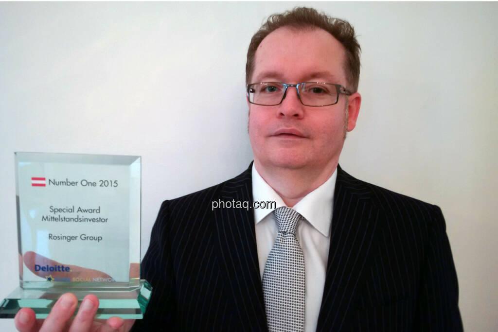 Gregor Rosinger - Special Award Mittelstandsinvestor Rosinger Group, © photaq/Martina Draper (22.06.2016)
