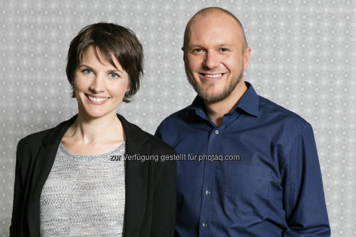 Gerhild Salcher (Chefradaktion), Hannes Huss (Stv. Chefredaktion) : Die neue Chefredaktion von W24 : Fotocredit: W24/Nußbaum