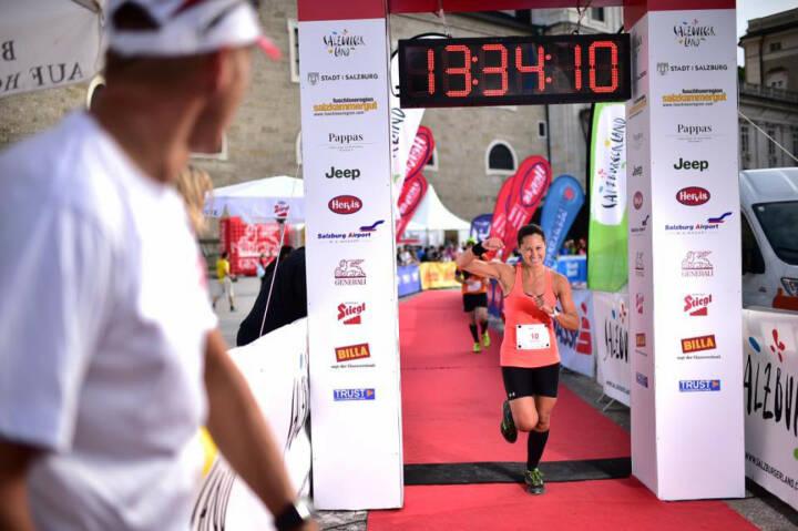 Monika Kalbacher beim Mozart 100, Zieleinlauf, Ziel, yes, geschafft