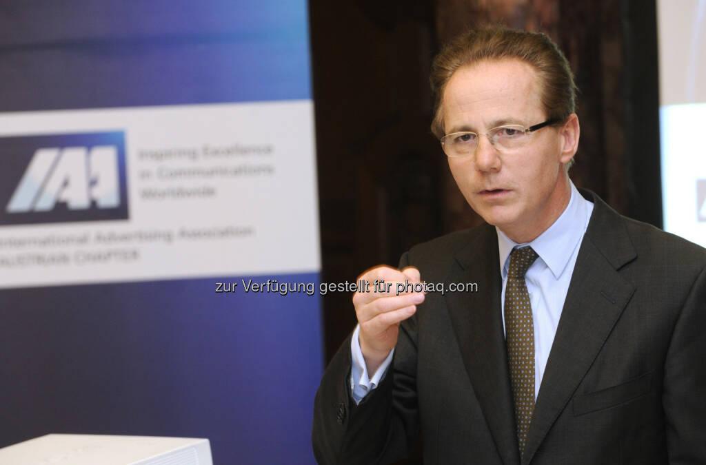 Georg Kapsch beim IAA Business Communication Lunch, Foto: ORF/Thomas Jantzen (19.04.2013)