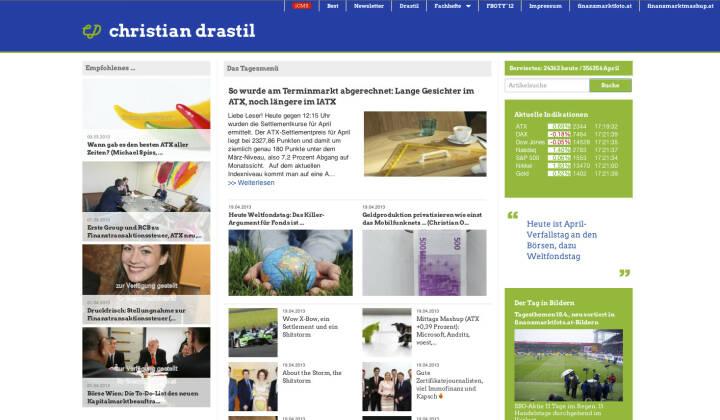 http://www.christian-drastil.com am 19.4.2013 Nachmittags
