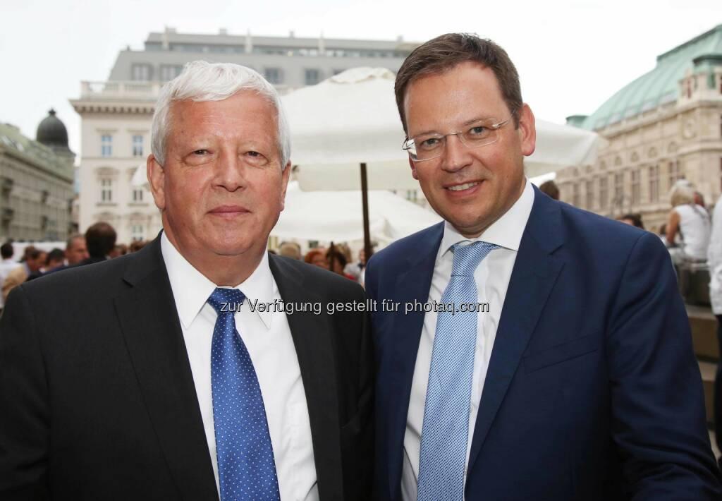 Jakob Auer (RLB OÖ), Klaus Kumpfmüller (FMA Vorstand), © RLB OÖ (01.07.2016)