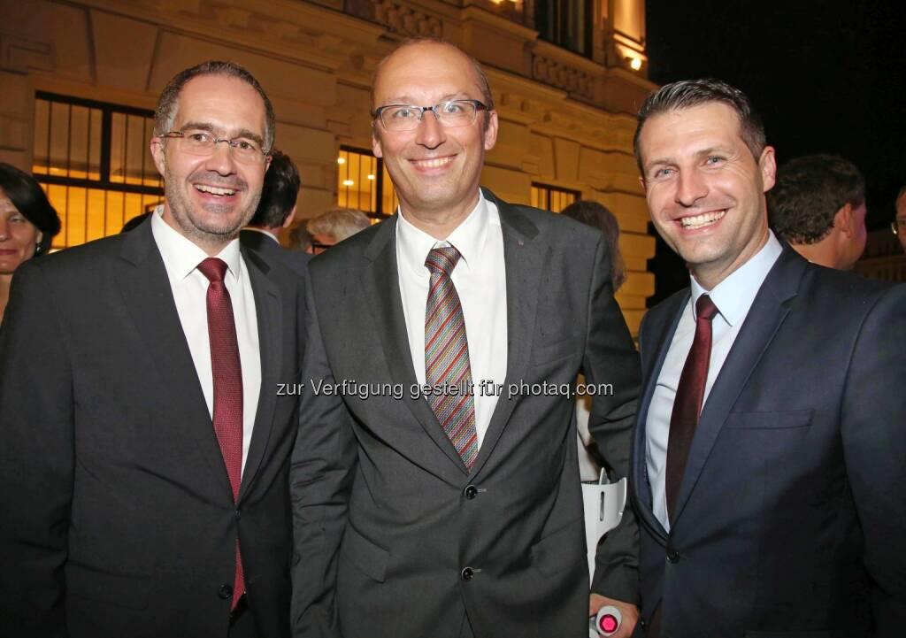 Hackl, Reinhard Schwendtbauer (RLB OÖ), Klaus Sperrer (Vivatis), © RLB OÖ (01.07.2016)