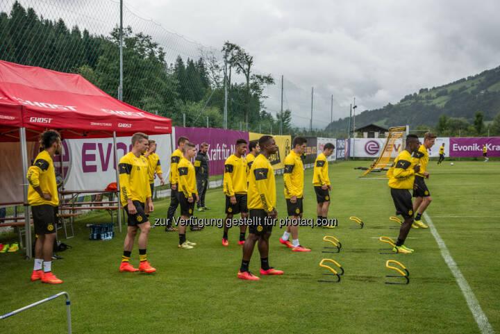 Team Borussia Dortmund : Sommertrainingslager des BVB im Brixental : Fotocredit: Tourismusverband Kitzbüheler Alpen – Brixental/Tropper