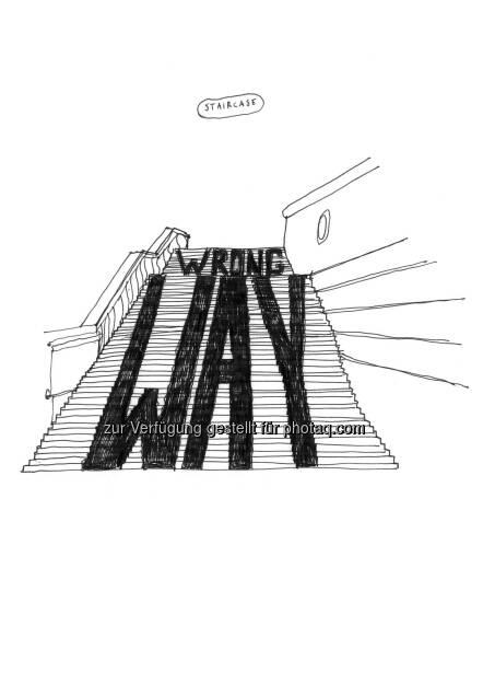 Aldo Giannotti: Staircase : Intervention in der Albertina : Spatial Dispositions. Aldo Giannotti : Fotocredit: (c) Aldo Giannotti, Albertina, © Aussendung (05.07.2016)