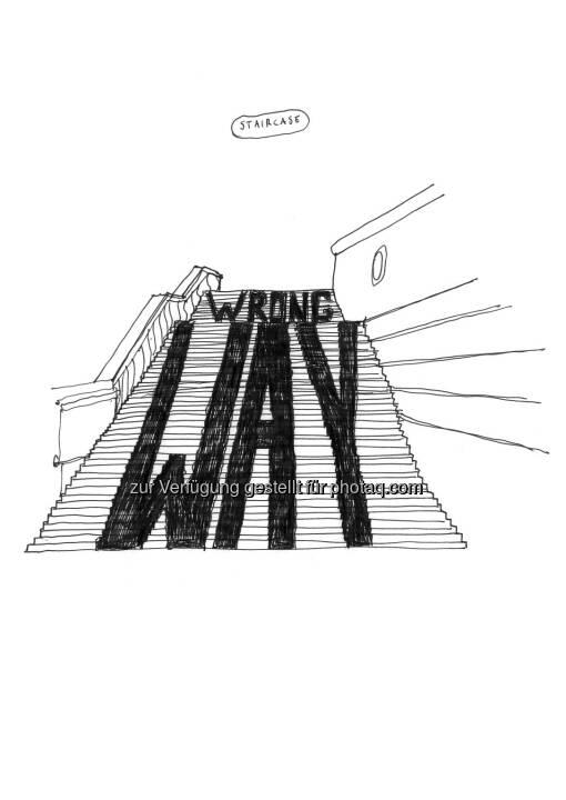 Aldo Giannotti: Staircase : Intervention in der Albertina : Spatial Dispositions. Aldo Giannotti : Fotocredit: (c) Aldo Giannotti, Albertina