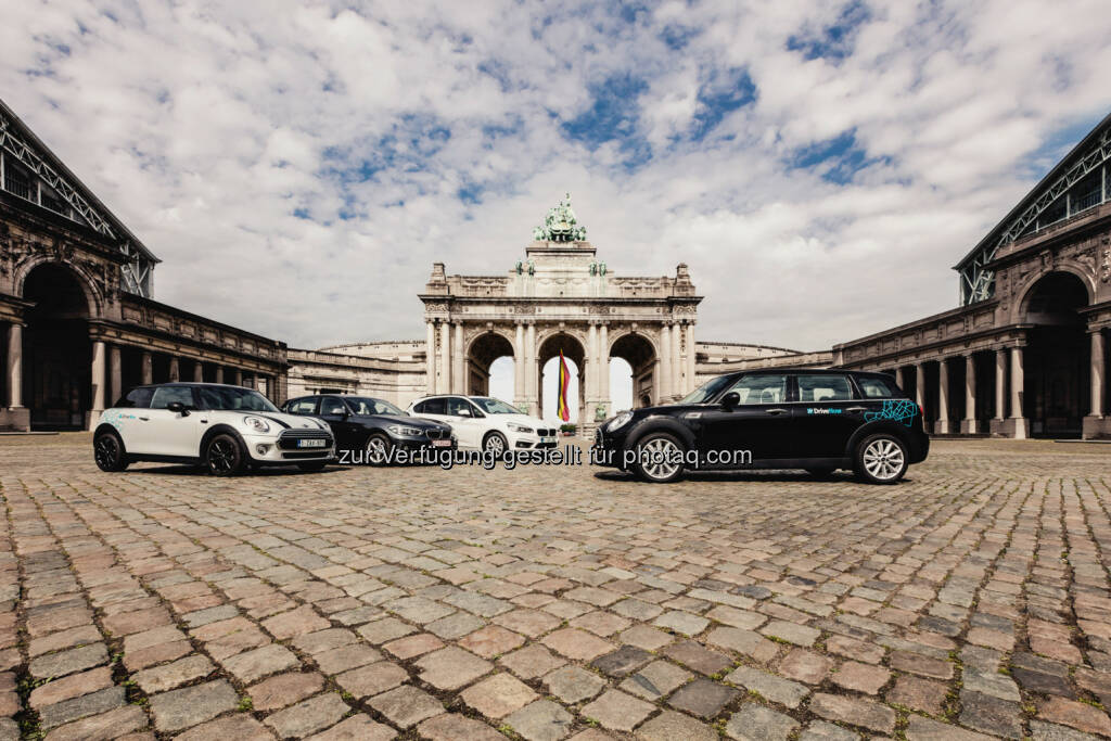 DriveNow CarSharing in Brüssel : BMW Group und Sixt SE bauen Carsharing weiter aus :  Brüssel ist die zehnte europäische DriveNow Metropole : ©BMW Group, © Aussendung (06.07.2016)