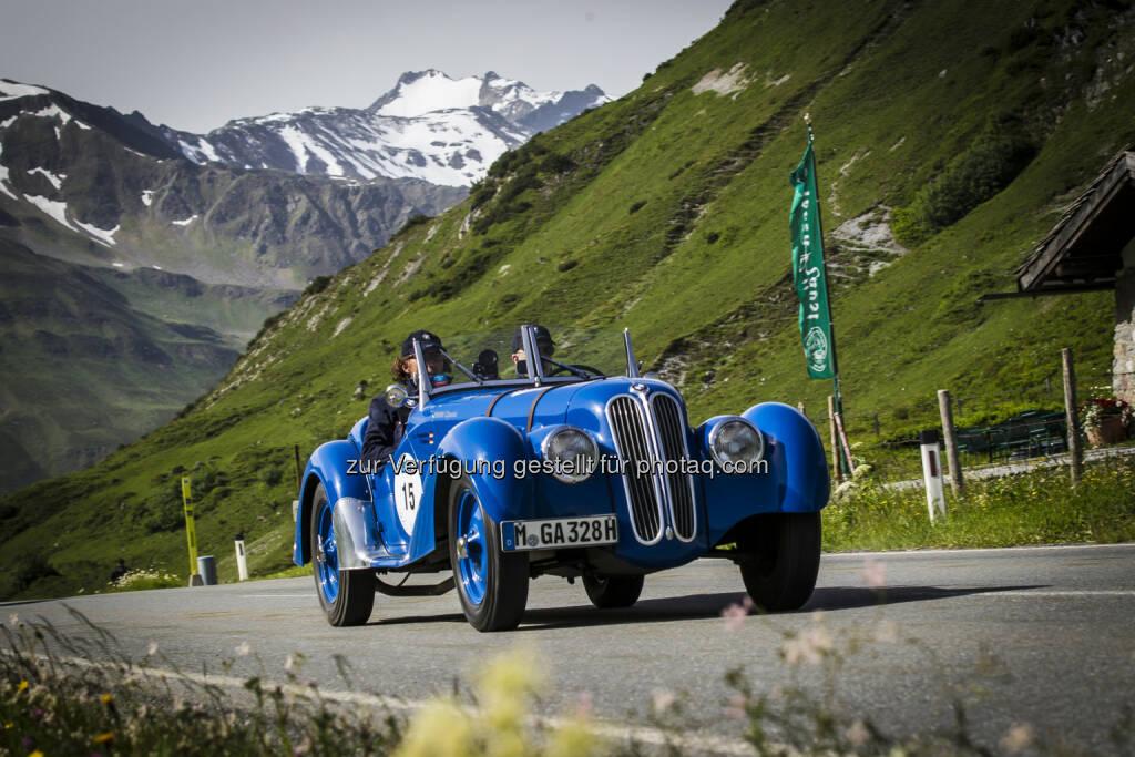 BMW 328 : Silvretta Classic Rallye Montafon 2016 - über rund 560 Kilometer führt die 19. Auflage der Zuverlässigkeits- und Gleichmäßigkeitsfahrt vom 7. bis zum 9. Juli 2016 : Fotocredit: ©BMW Group, © Aussendung (06.07.2016)