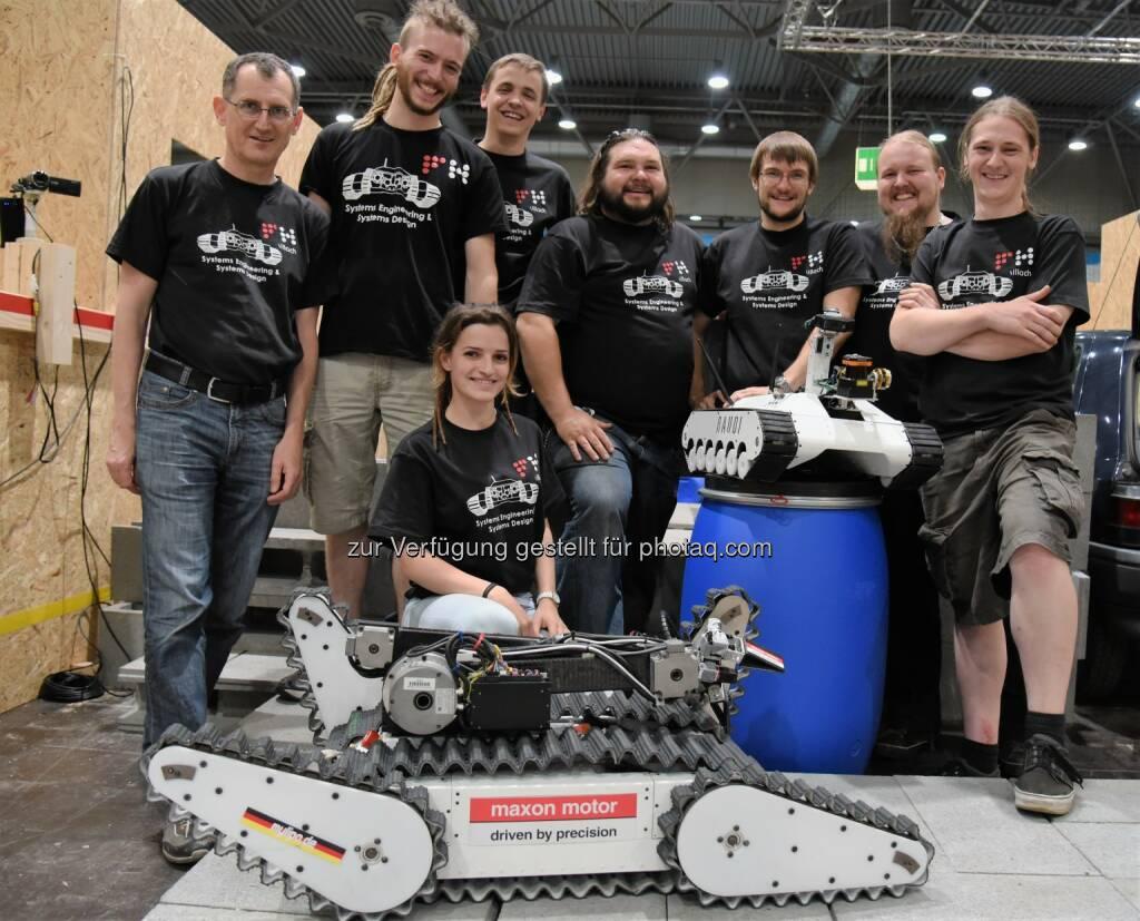 Robotik-Team der FH Kärnten : Sieg für die FH Kärnten beim RoboCup in der Spezialdisziplin Geschicklichkeit : Fotocredit: FH Kärnten, © Aussendung (07.07.2016)