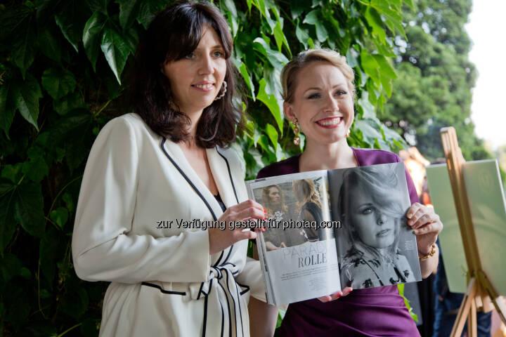 Melanie Gleinser-Moritzer (Diva Chefredakteurin), Angela Brower (Festspielstar) : Diva Gala 2016 im Schloss Leopoldskron, Salzburg : Fotocredit: Doris Wild/Diva/(c) wildbild