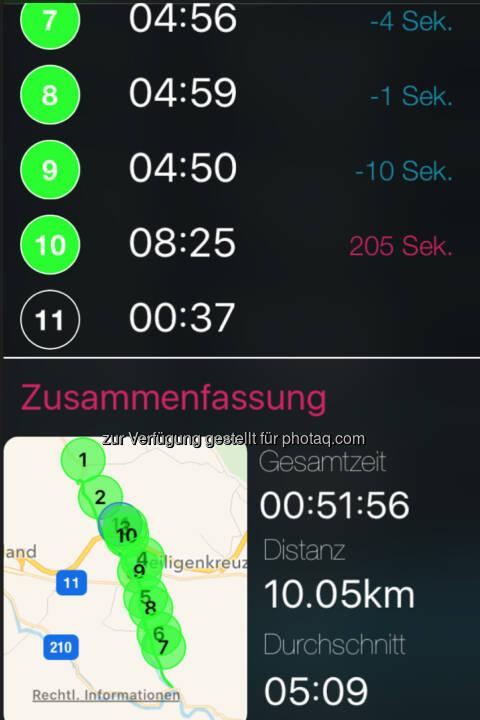 Der letzte Km war wegen der Wienerwaldschnecke ein Schneckenkilometer