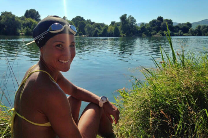 Monika Kalbacher, Schwimmen, Donauinsel