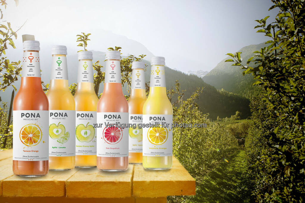 Pona Sortiment : Pona startet mit Crowdfunding: Bio-Limo gegen Zuckerbomben : Fotocredit: ©Green Rocket, © Aussendung (11.07.2016)