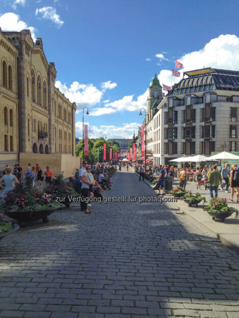 Fußgängerzone Oslo, Norwegen, © Nikolas Draper (12.07.2016)