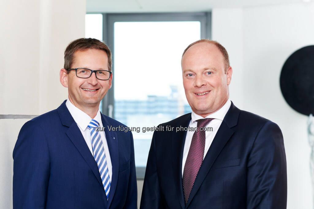 Jörg W. Stotz (Mitglied der Geschäftsführung), Jörg Kaden (Niederlassungsleiter) : Hansainvest eröffnet Niederlassung in Frankfurt am Main : Fotocredit: Hansainvest, © Aussendung (13.07.2016)