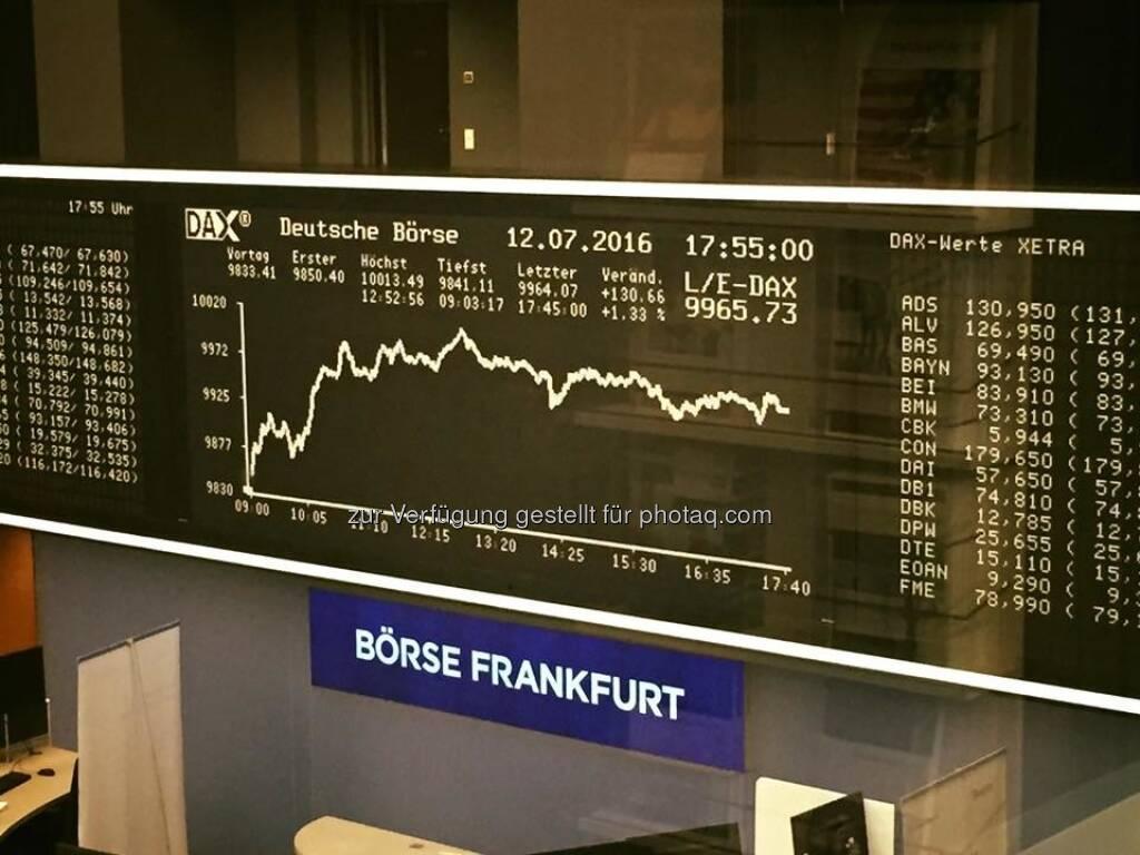Börse Frankfurt DAX (13.07.2016)