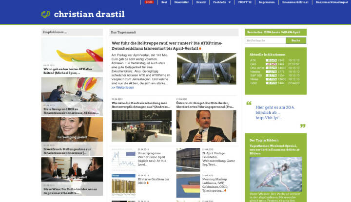 http://www.christian-drastil.com am 21.4.2013 Nachmittags