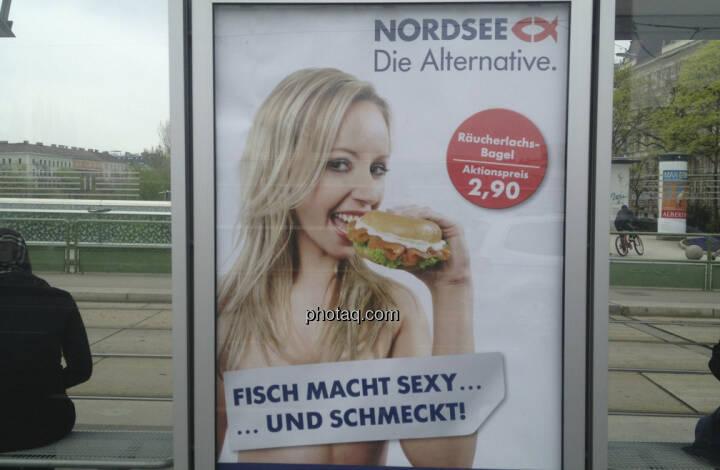 Nordsee-Plakat: Fisch macht sexy und schmeckt!