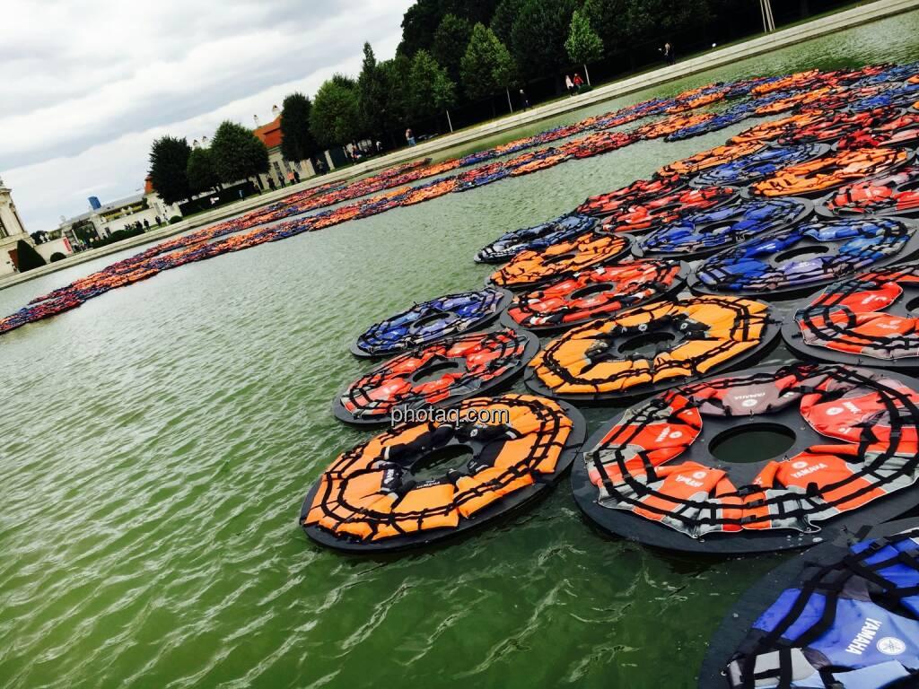 Ai Weiwei, Schwimmwesten, Flüchtlinge, Belvedere Wien, © Josef Chladek/photaq.com (16.07.2016)