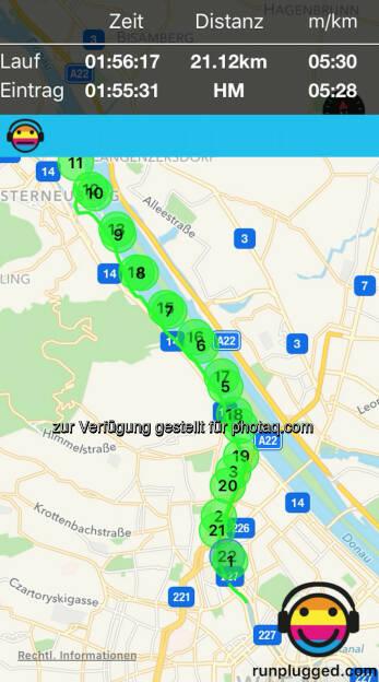 21,1 Friedensbrücke - Happyland - Friedensbrücke via http://www.runplugged.com/app (17.07.2016)