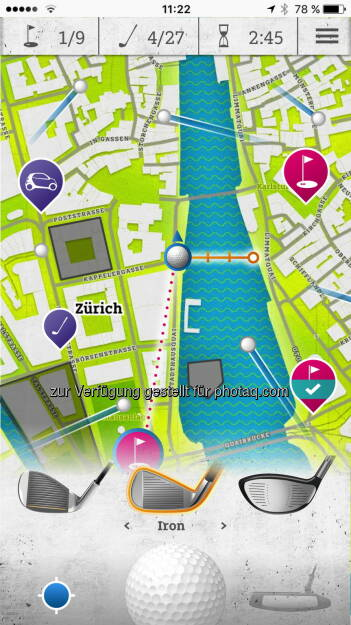 smart urban golf : Neue Mixed Reality App smart urban golf bringt Stadt-Golf aufs Handy : Fotocredit: smart (18.07.2016)
