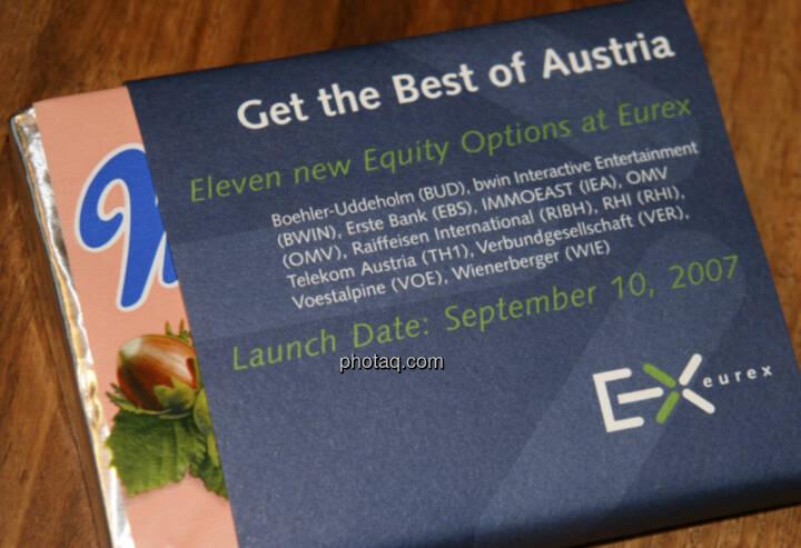 Manner, Get the Best of Austria, Eurex