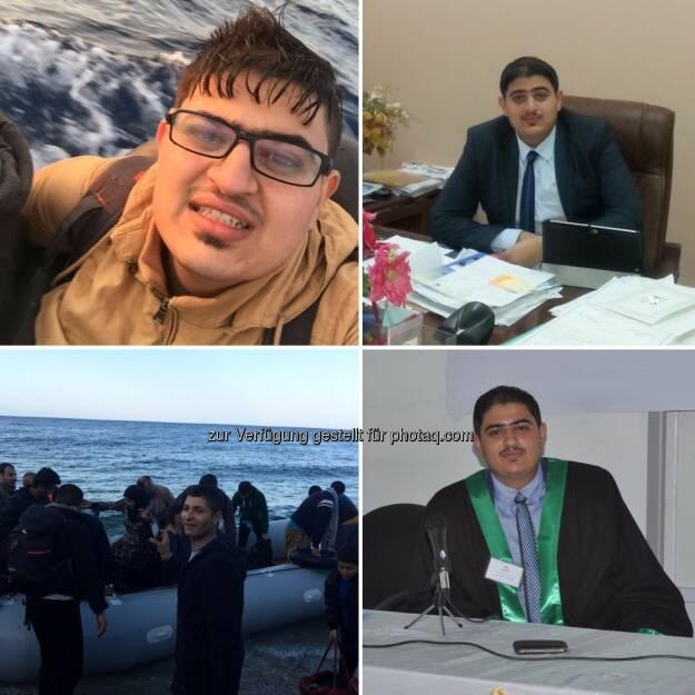 """Mustafa Aljumaili (Flüchtling, Irak) : """"Hier will ich Jus studieren und mir ein neues Leben aufbauen!"""" - MORE-Projekt der JKU bietet Uni-Zugang für Flüchtlinge : Fotocredit: Privat/JKU, © Aussendung (22.07.2016)"""