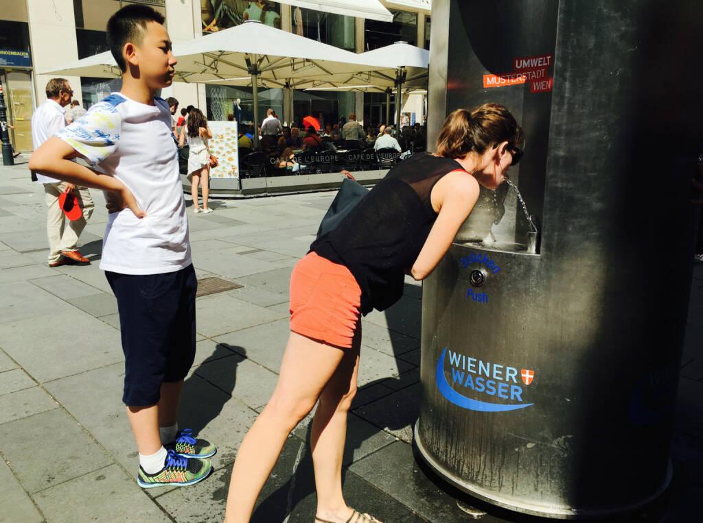 Wiener Wasser Trinken, © diverse photaq (22.07.2016)