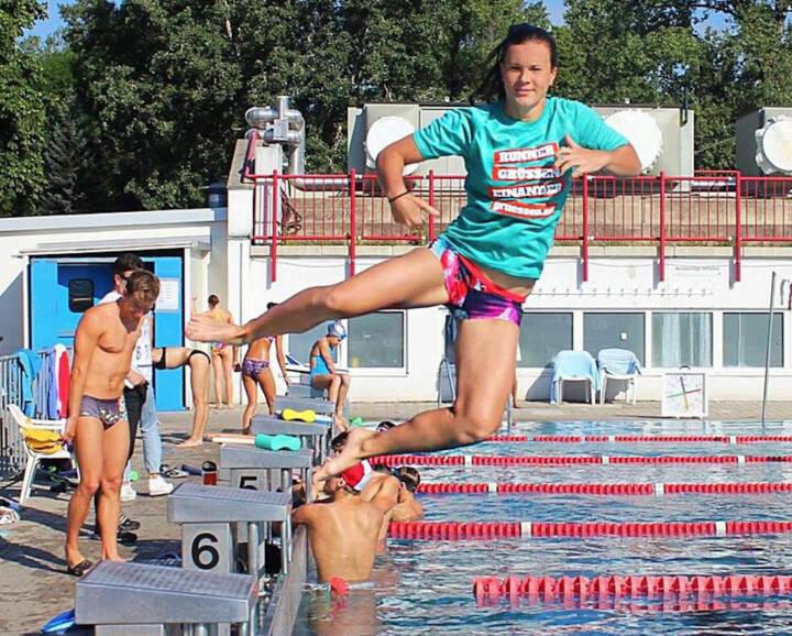 Yes Jump Tanja Stroschneider im Shirt von http://www.gruessen.net