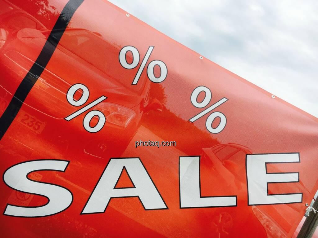 Sale, Verkauf, Prozent, rot, Abverkauf, © Josef Chladek/photaq.com (25.07.2016)