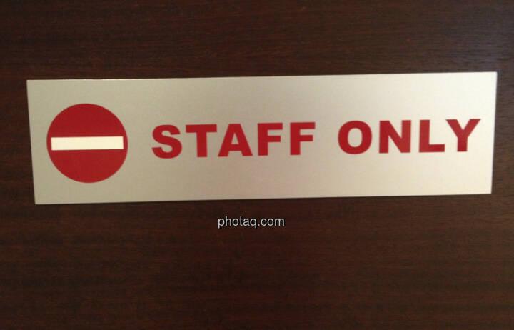 Staff only, nur für Mitarbeiter