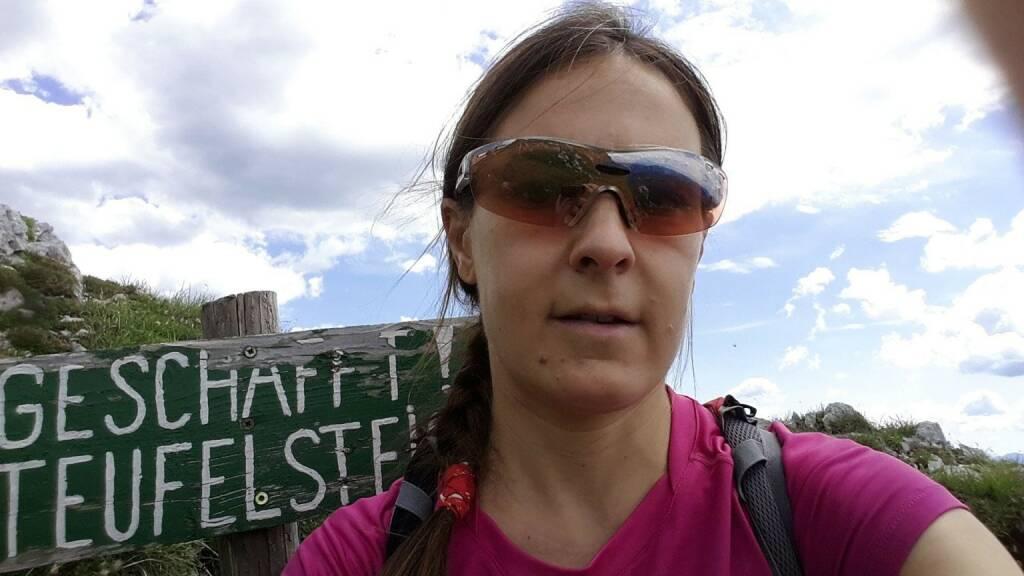 Carola Bendl-Tschiedel am Teufelstein, © Carola Bendl-Tschiedel (26.07.2016)