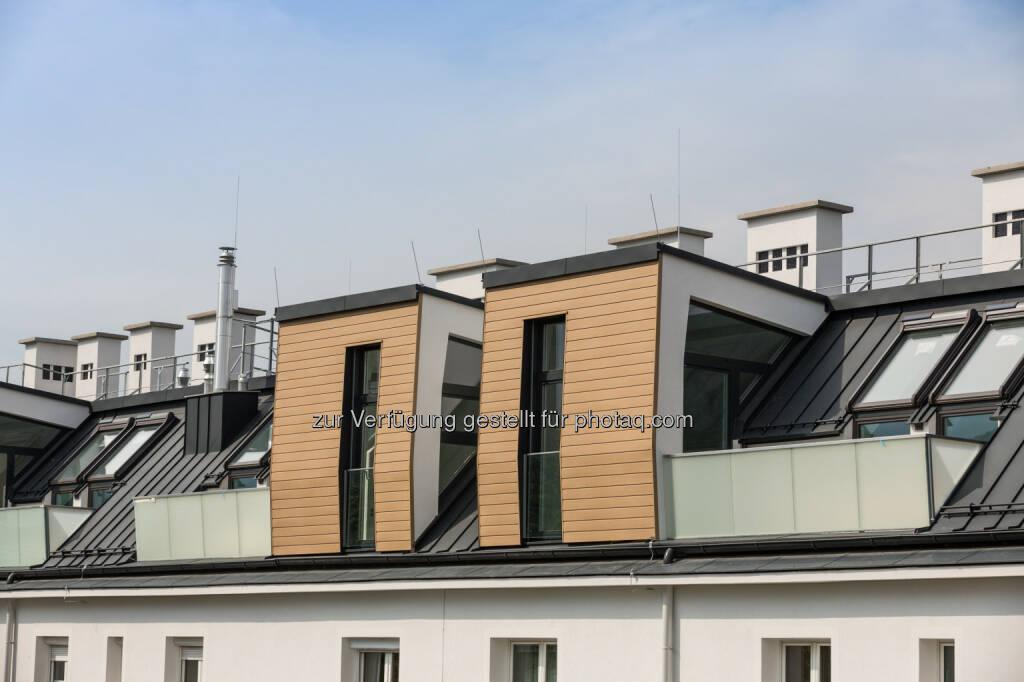 Buwog Samhaberplatz: Beim Rapid-Stadion entsteht Wiens größter Dachausbau : Fotocredit: Buwog/Stephan Huger, © Aussendung (26.07.2016)