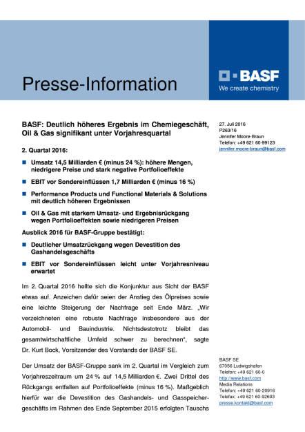 BASF: 2. Quartal 2016, Seite 1/6, komplettes Dokument unter http://boerse-social.com/static/uploads/file_1492_basf_2_quartal_2016.pdf (27.07.2016)