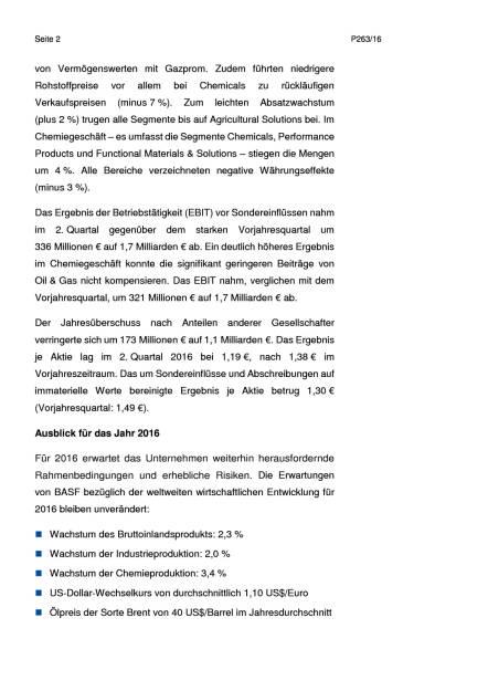 BASF: 2. Quartal 2016, Seite 2/6, komplettes Dokument unter http://boerse-social.com/static/uploads/file_1492_basf_2_quartal_2016.pdf (27.07.2016)