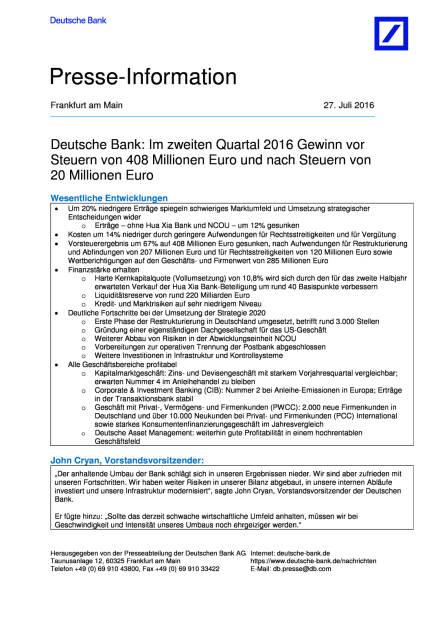 Deutsche Bank: 2. Quartal, Seite 1/11, komplettes Dokument unter http://boerse-social.com/static/uploads/file_1494_deutsche_bank_2_quartal.pdf (27.07.2016)