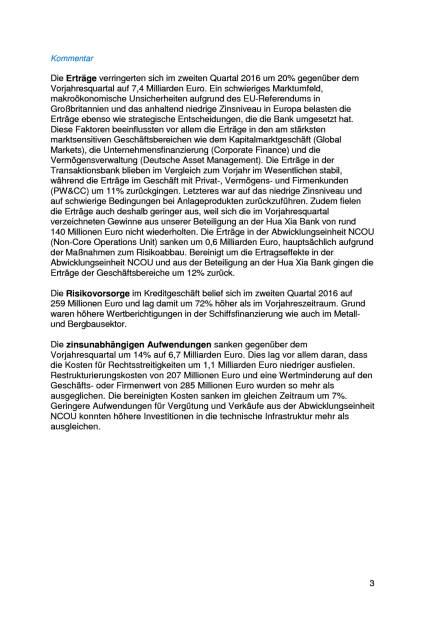 Deutsche Bank: 2. Quartal, Seite 3/11, komplettes Dokument unter http://boerse-social.com/static/uploads/file_1494_deutsche_bank_2_quartal.pdf (27.07.2016)
