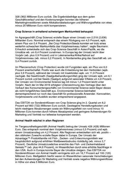 Bayer mit Umsatz- und Ergebnisplus, Seite 3/7, komplettes Dokument unter http://boerse-social.com/static/uploads/file_1498_bayer_mit_umsatz-_und_ergebnisplus.pdf (27.07.2016)