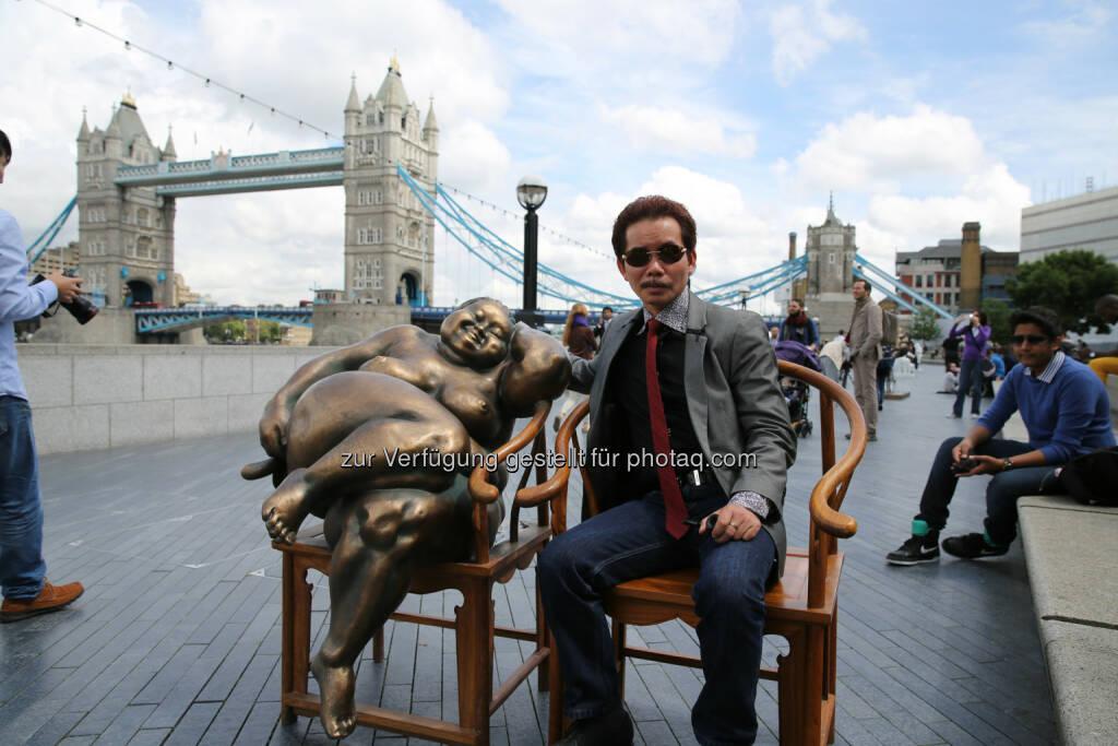 """Xu Hongfei (Künstler), Skulptur, London : """"Chubby Women"""" vom 1. Bis 10. August in Wien : Open Air Austellung  im Haupthof Museumsquartier : Fotocredit: Xu Hongfei/曾雨林 (Yulin Zeng), © Aussendung (27.07.2016)"""