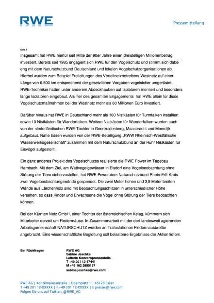 RWE investiert in wirksamen Vogelschutz , Seite 2/2, komplettes Dokument unter http://boerse-social.com/static/uploads/file_1501_rwe_investiert_in_wirksamen_vogelschutz.pdf (27.07.2016)