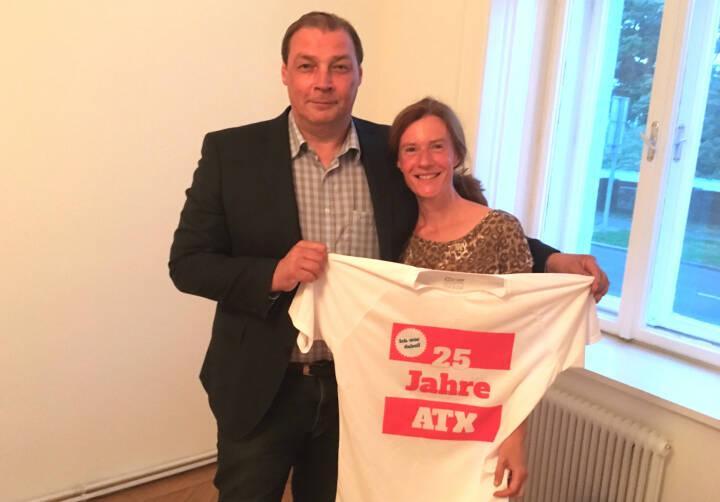 25 Jahre ATX - Hannes Roither, Martina Draper