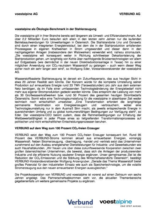 voestalpine und Verbund starten strategische Kooperationsprojekte, Seite 2/3, komplettes Dokument unter http://boerse-social.com/static/uploads/file_1503_voestalpine_und_verbund_starten_strategische_kooperationsprojekte.pdf