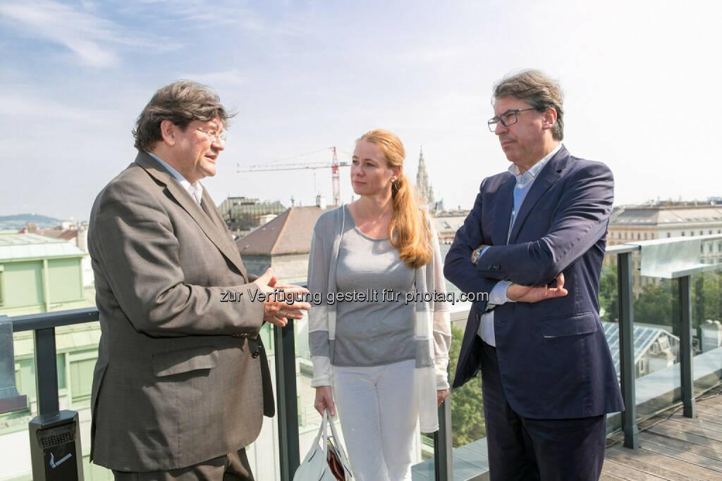 Stefan Zapotocky, Michaela Friepeß, Stefan Pierer (CEO KTM Industries), © Martina Draper (27.07.2016)