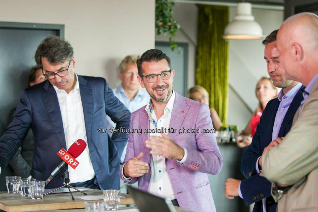 Stefan Pierer (CEO KTM Industries), Roman Sindelar, Stefan Schnöll, Alex Vogel, © Martina Draper (27.07.2016)