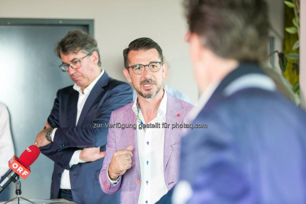 Stefan Pierer (CEO KTM Industries), Roman Sindelar, Philip Rusch, © Martina Draper (27.07.2016)