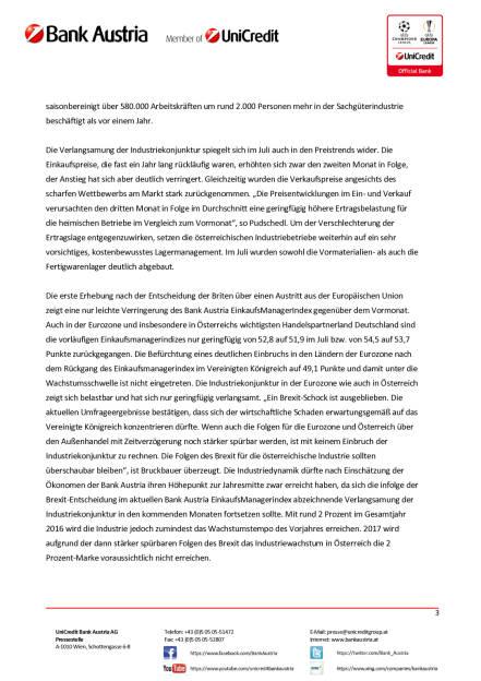 Bank Austria: Österreichs Industrie von Brexit-Entscheidung unbeeindruckt, Seite 3/4, komplettes Dokument unter http://boerse-social.com/static/uploads/file_1517_bank_austria_osterreichs_industrie_von_brexit-entscheidung_unbeeindruckt.pdf (28.07.2016)